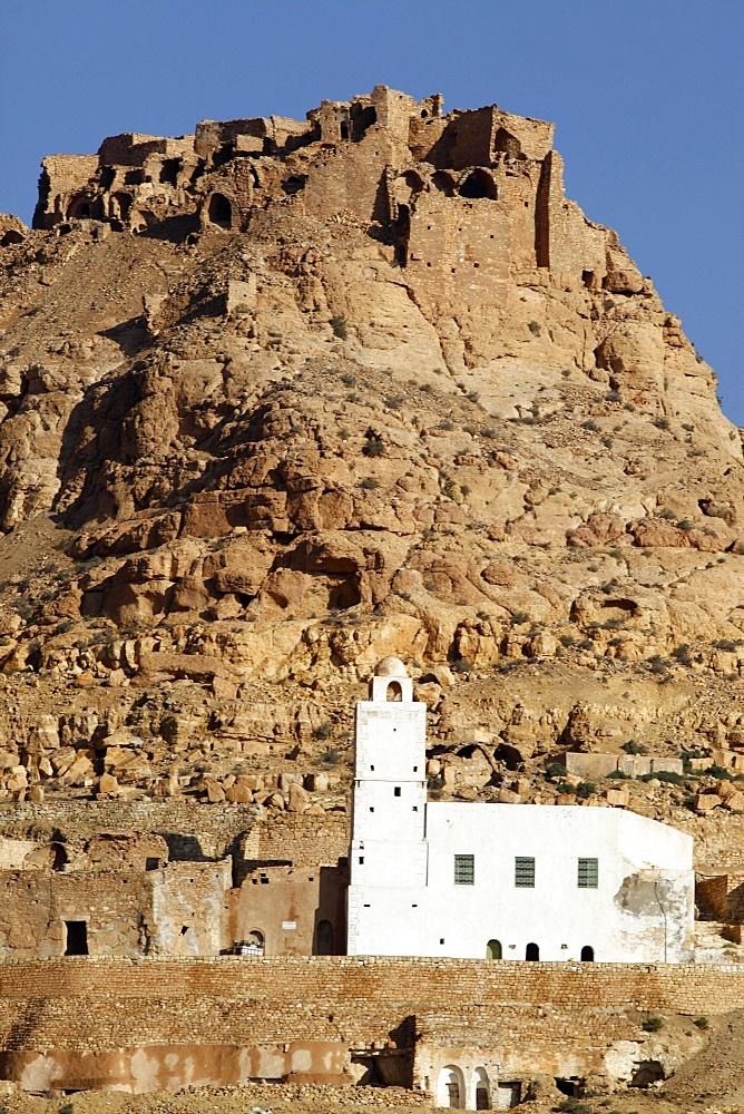 Douiret village mosque, Tunisia, North Africa, Africa