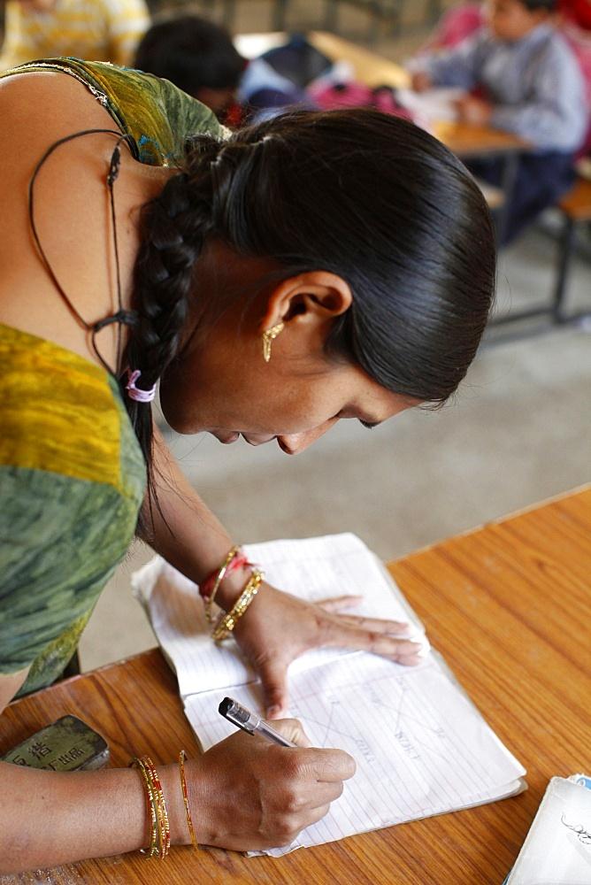 Sandipani Muni high school teacher, Vrindavan, Uttar Pradesh, India, Asia