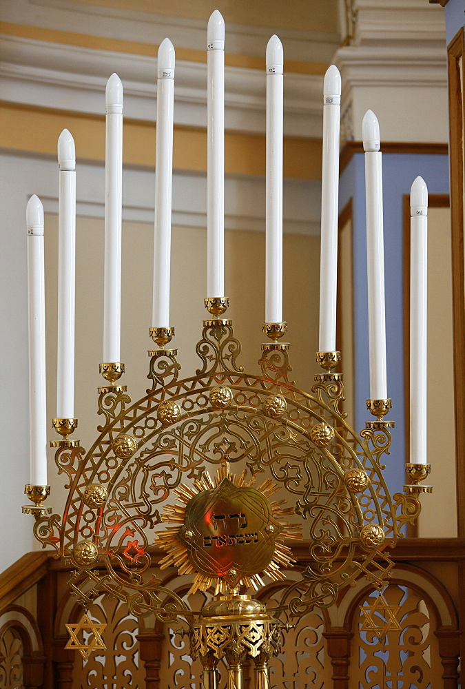 Hanukkah Menorah, Grand Choral Synagogue, St. Petersburg, Russia, Europe