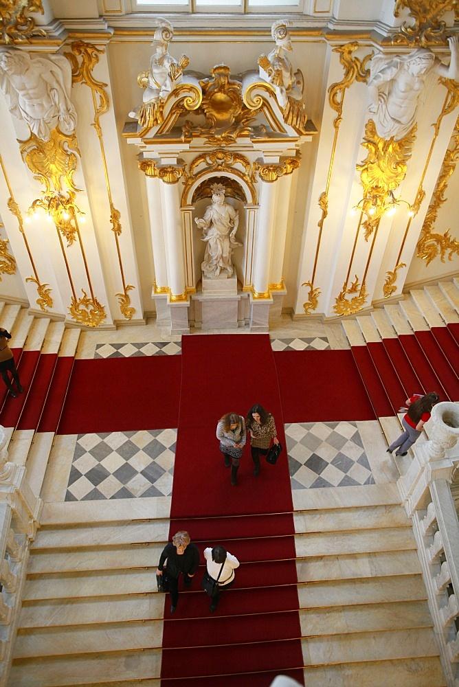 Honor staircase, Hermitage Museum, St. Petersburg, Russia, Europe