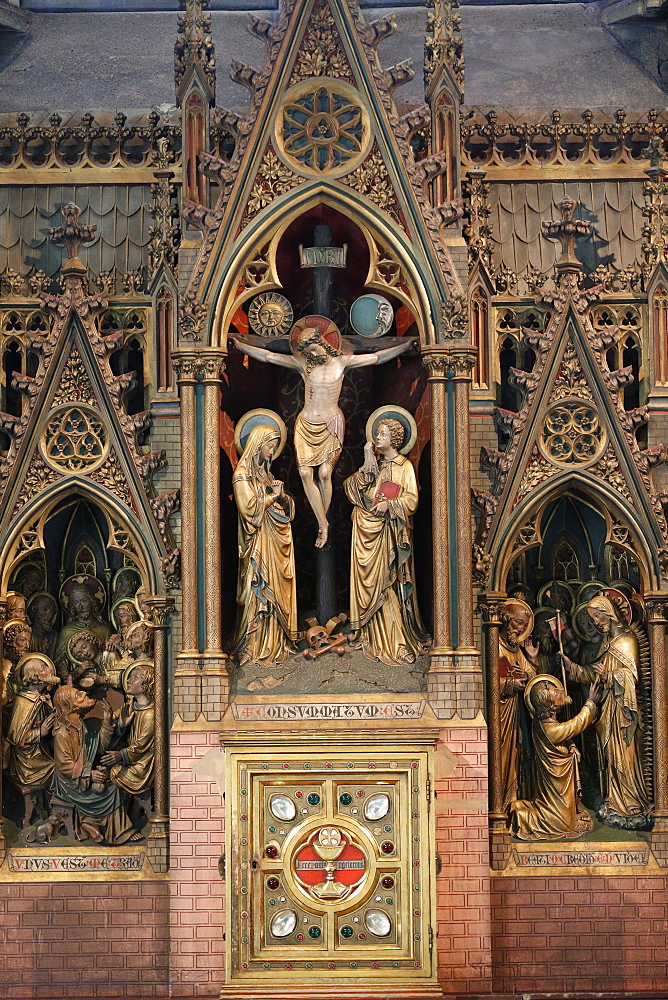 Altarpiece, Church of Our Lady, Bruges, West Flanders, Belgium, Europe