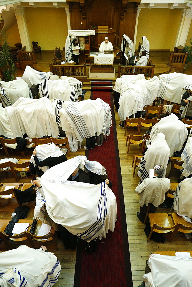 Yom Kippur also known as Day of Atonement, the holiest day of the year for the Jewish people, Paris, France, Europe
