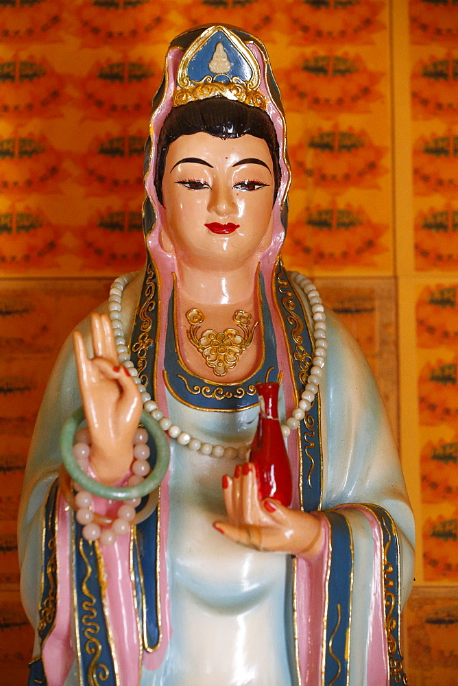 Quan Am, the Bodhisattva of Compassion (Goddess of Mercy), Tu An Buddhist temple, St. Pierre-en-Faucigny, Haute-Savoie, France, Europe