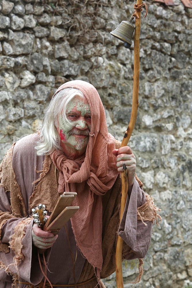 The village of the leprous, medieval festival of Provins, UNESCO World Heritage Site, Seine-et-Marne, Ile-de-France, France, Europe