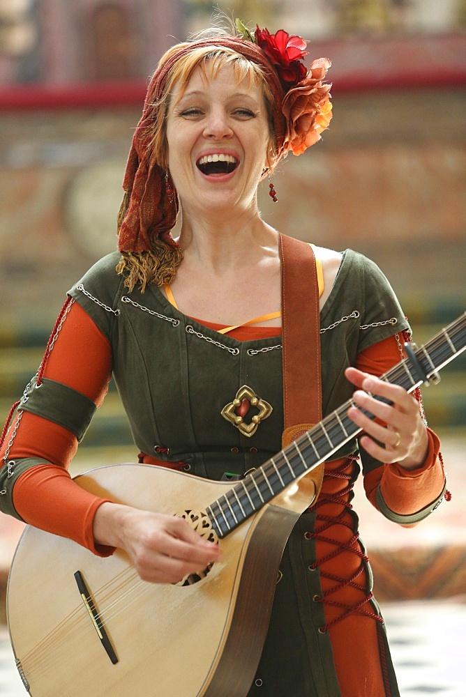 Medieval music, the medieval festival of Provins, UNESCO World Heritage Site, Seine-et-Marne, Ile-de-France, France, Europe