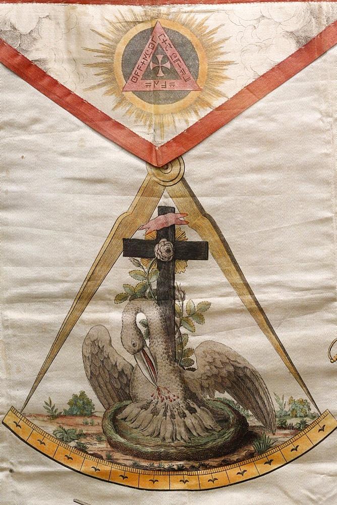 Masonic apron, Grande Loge de France, Paris, France, Europe