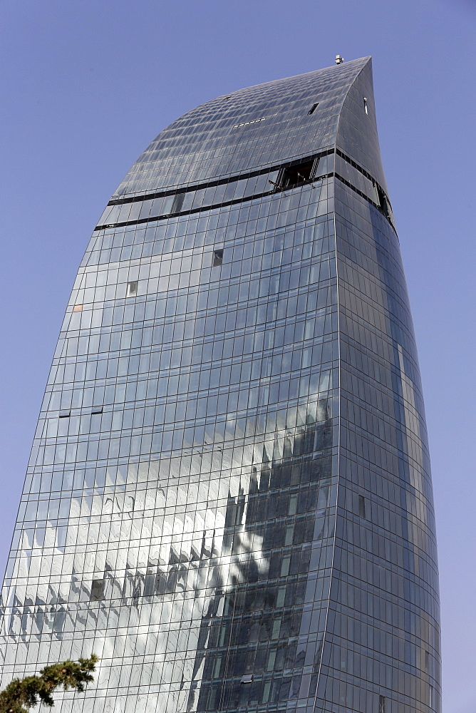 Flame Tower building, Baku, Azerbaijan, Central Asia, Asia