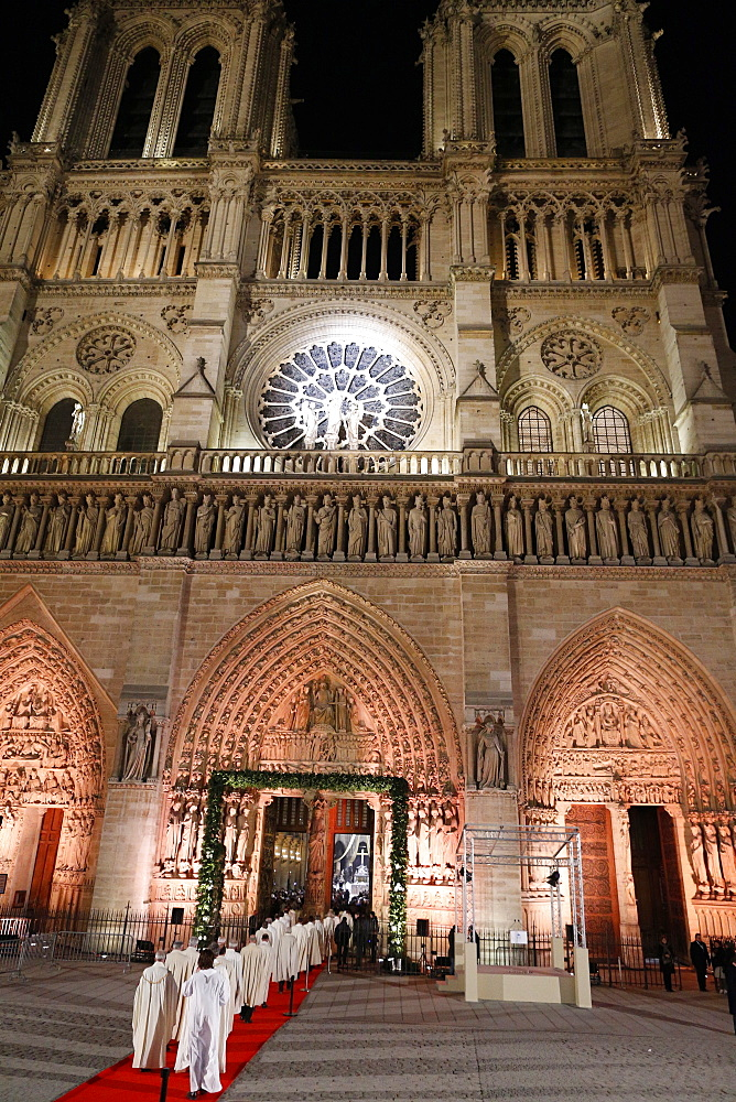 Opening ceremony of Notre-Dame de Paris cathedral on 850 years anniversary, Paris, France, Europe