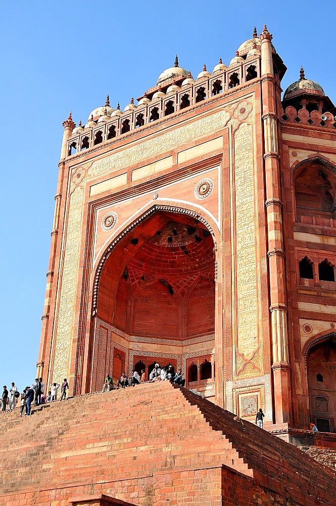 Monumental Gate (Buland Darwaza), Jama Masjid Mosque, Fatehpur Sikri, UNESCO World Heritage Site, Uttar Pradesh, India, Asia