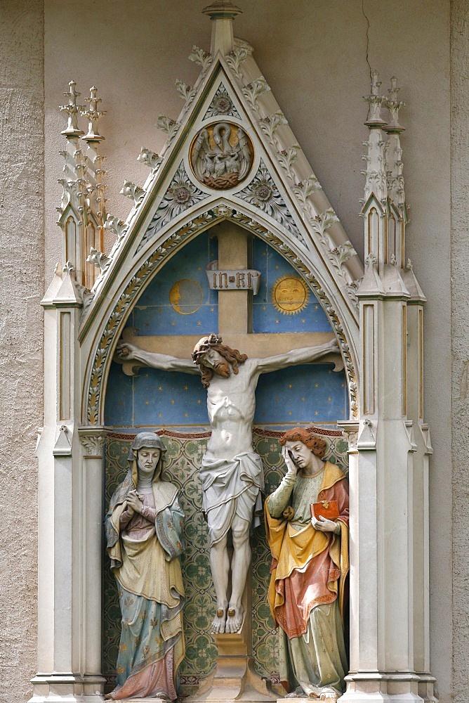 Jesus on the Cross, Heiligenkreuz Abbey, Lower Austria, Austria, Europe