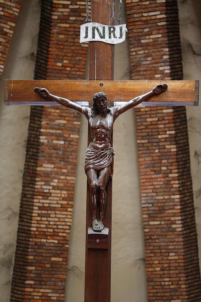 Crucifix, St. Anne's Basilica, Brazzaville, Congo, Africa