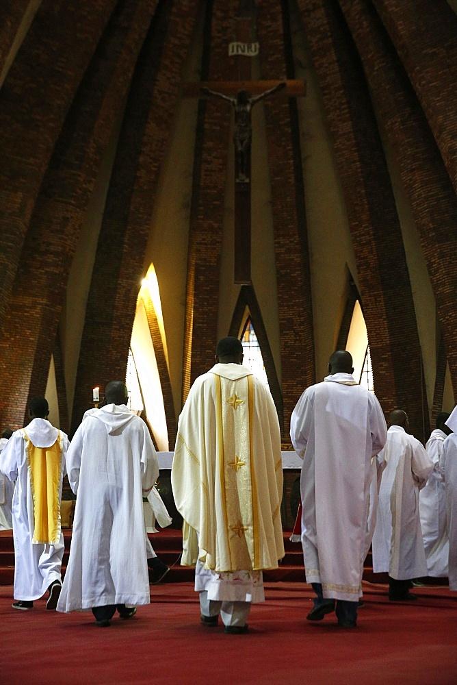 Catholic Mass, St. Anne's Basilica, Brazzaville, Congo, Africa