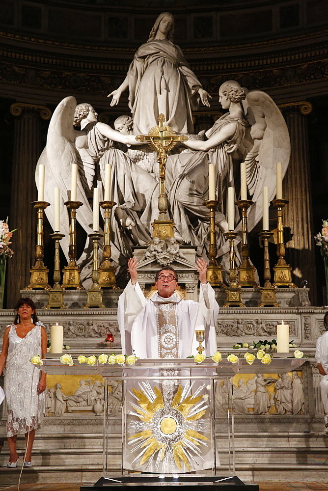 Brazilian Mass at La Madeleine Catholic church, Paris, France, Europe