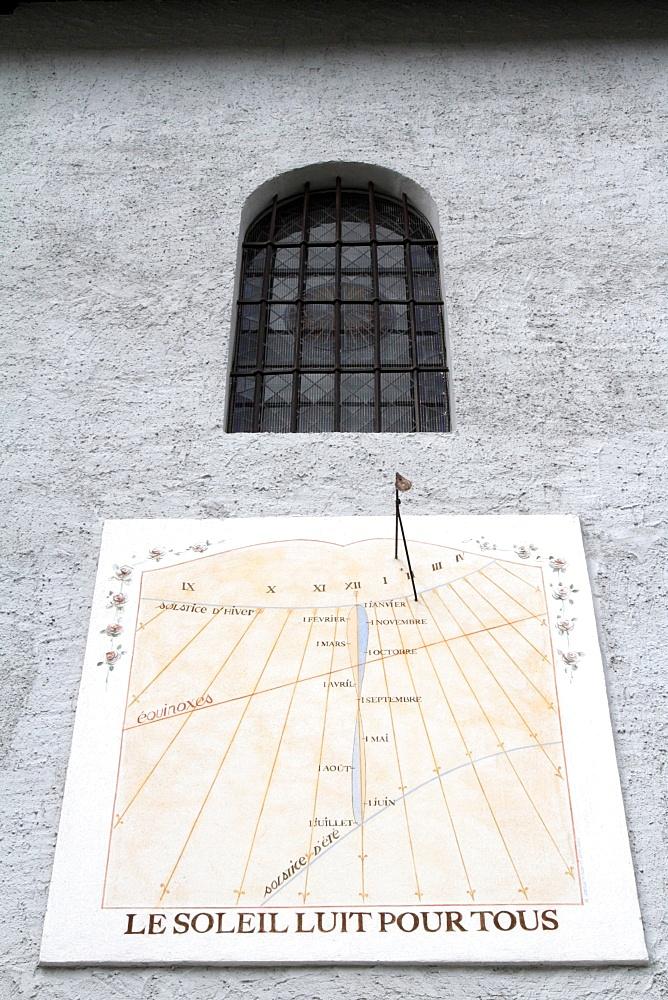 Sundial, Cordon, Haute-Savoie, France, Europe