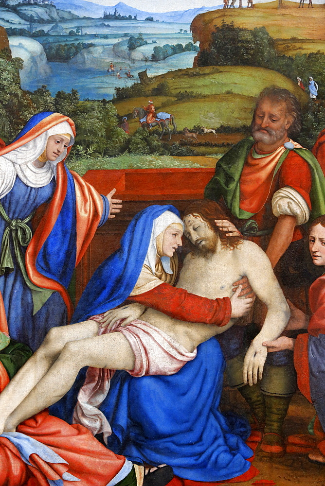 The Lamentation over the Christ's death, by Andrea di Bartolo, painted in 1465, Paris, France, Europe
