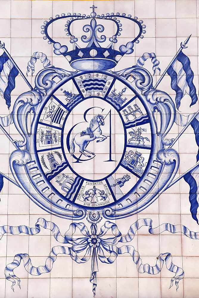 Blazon of the Royal Andalusian School of Equestrian Art, Jerez, Andalucia, Spain, Europe