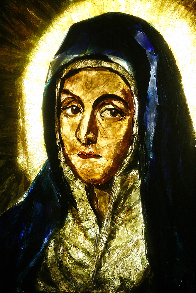 Detail of Mater Dolorosa by el Greco, Lourdes, Hautes Pyrenees, France, Europe