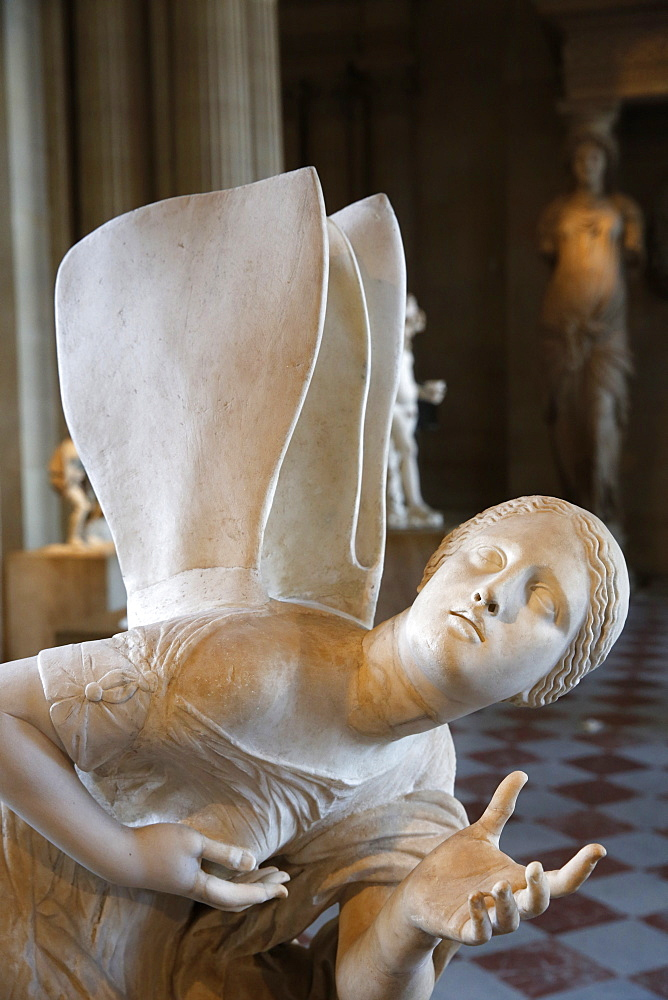 Psyche, a Roman marble statue from the 1st or 2nd century AD, Louvre Museum, Paris, France, Europe