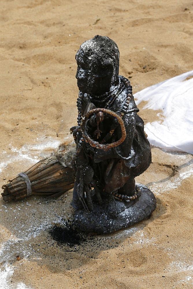 Gambada fetish at the Ouidah Voodoo festival, Ouidah, Benin, West Africa, Africa