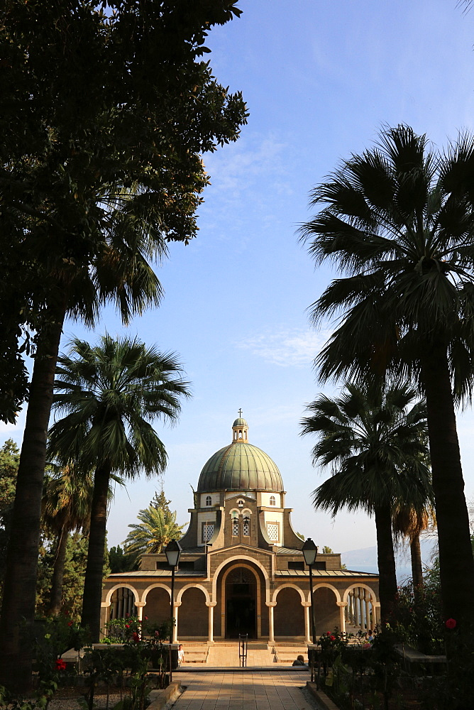 Church of the Beatitudes, Mount of Beatitudes, Galilee, Israel, Middle East