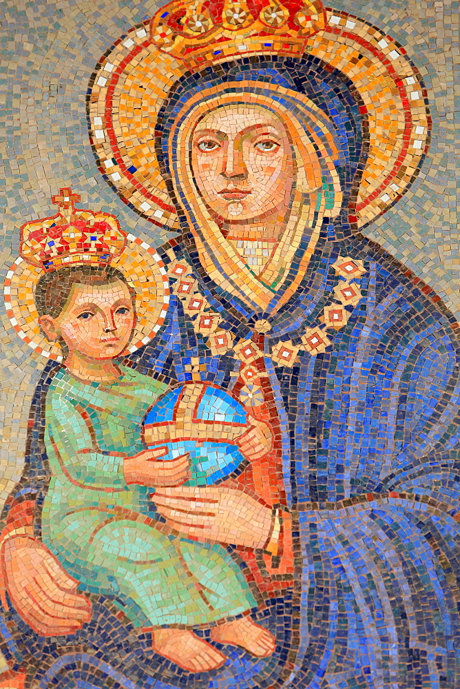 Virgin and child, Malta, Basilica of the Annunciation, Nazareth, Israel, Middle East