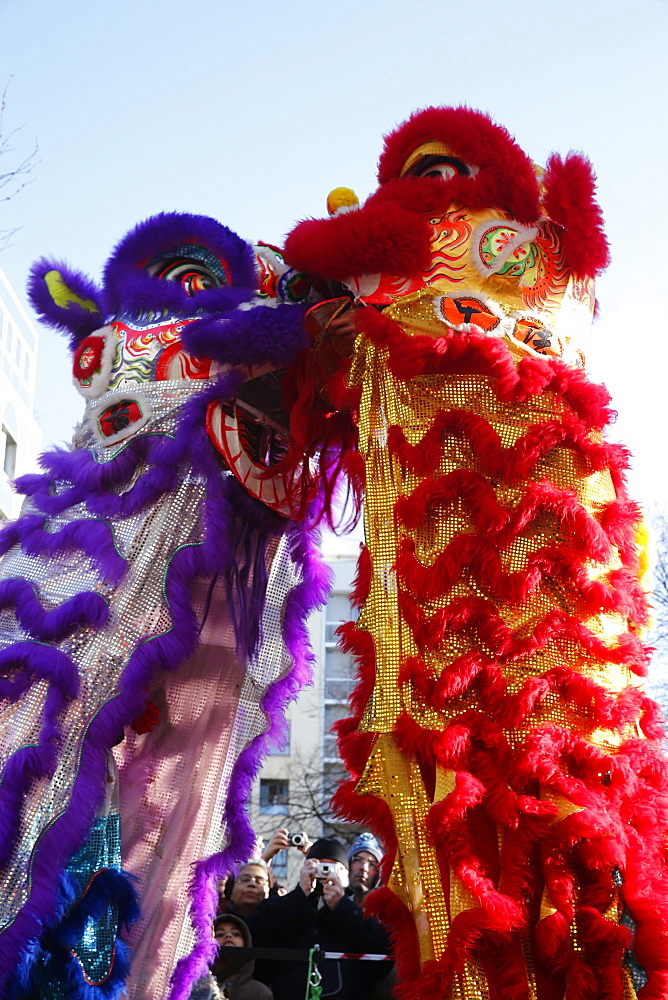 Dragon dance, Chinese New Year, Paris, France, Europe