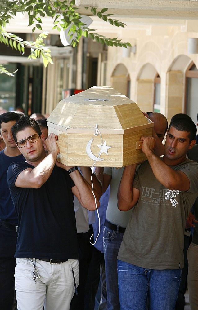 Palestinian Muslim funeral, Nazareth, Galilee, Israel, Middle East