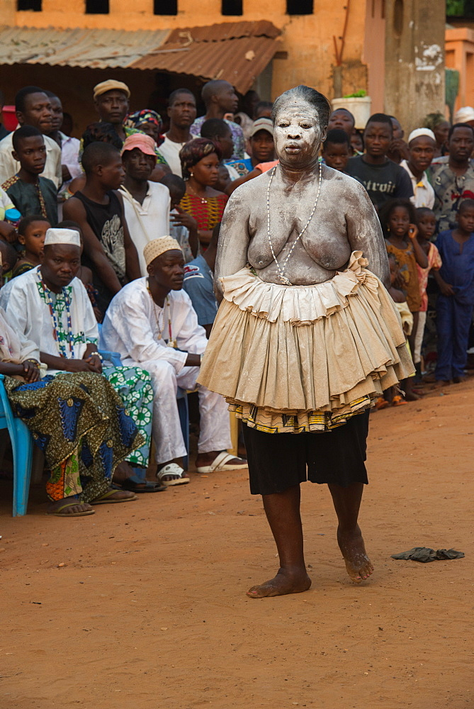 Voodoo festival in the streets of Ouidah, Benin, West Africa, Africa