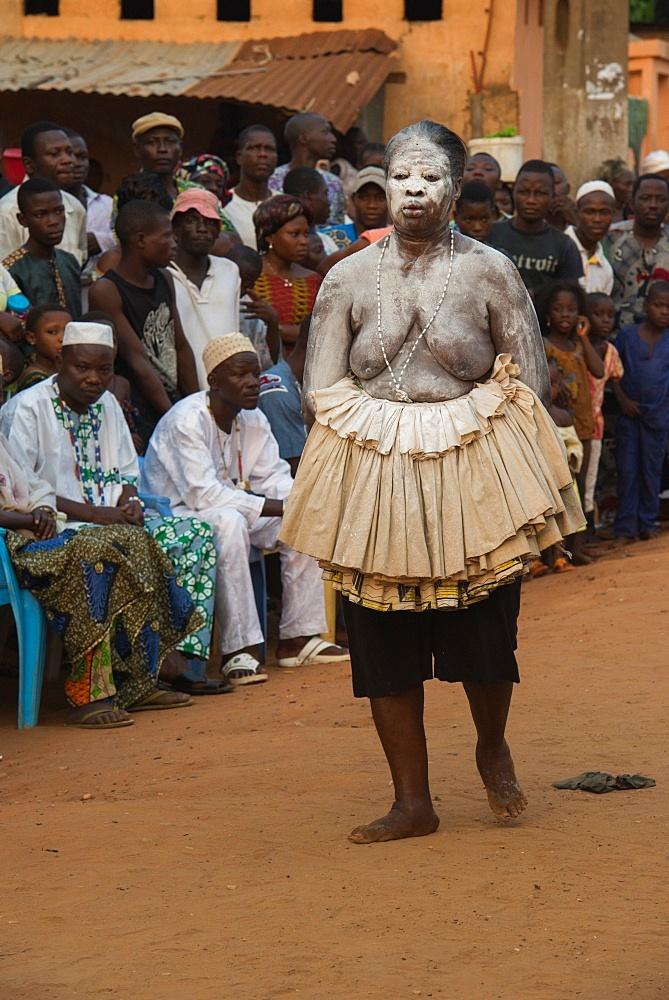 Voodoo festival in the streets of Ouidah, Benin, West Africa, Africa
