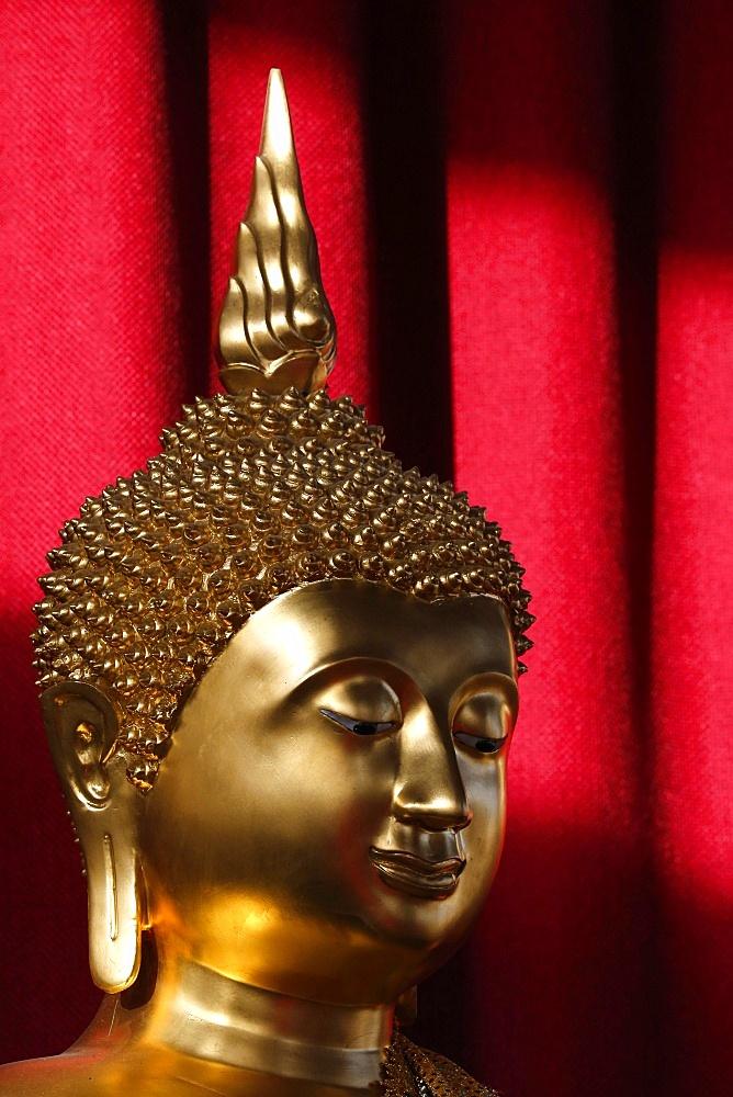 Buddha statue, Wat Velouvanaram, Bussy St. George, Seine et Marne, France, Europe