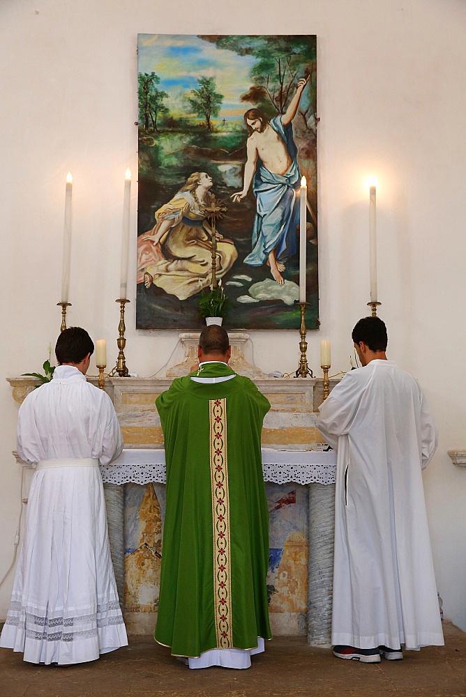 Mass in Castiglione, Puglia, Italy, Europe