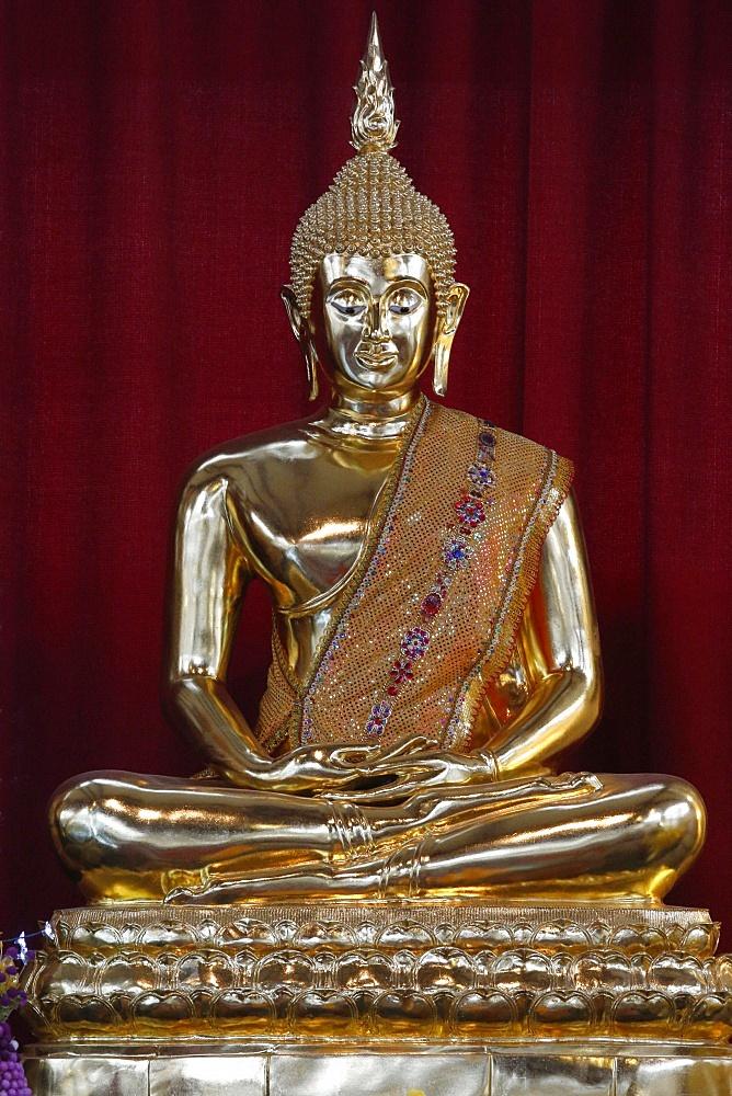 Buddha statue, Wat Velouvanaram, Bussy Saint Georges, Seine et Marne, France, Europe