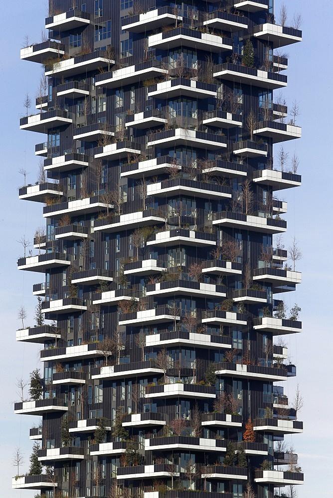 Building near Porta Nuova, Milan, Lombardy, Italy, Europe