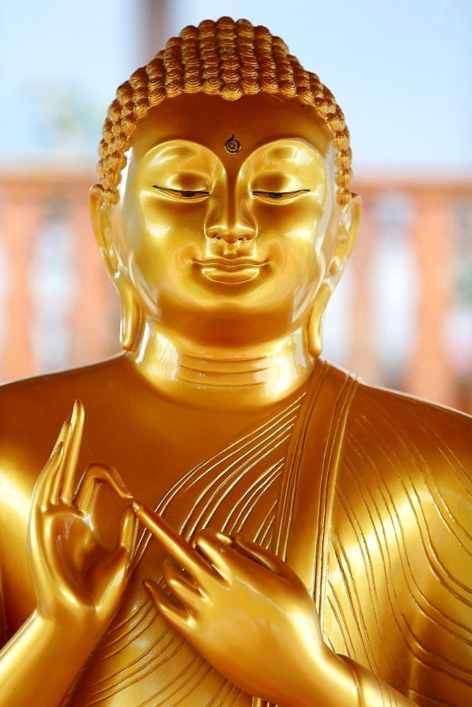 Buddha statue, Tu An Buddhist Temple, Saint-Pierre-en-Faucigny, Haute Savoie, France, Europe
