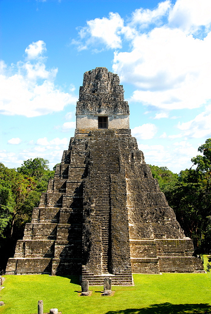 Temple I (Temple of the Giant Jaguar) at Tikal, UNESCO World Heritage Site, Guatemala, Central America