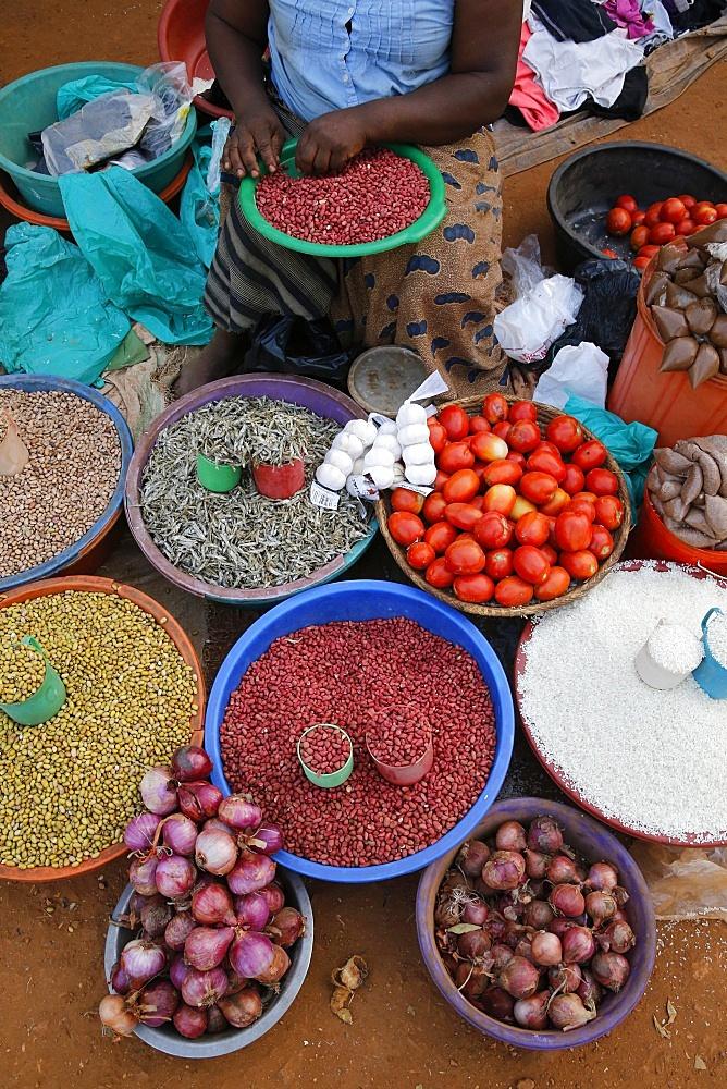 Masindi market stall.