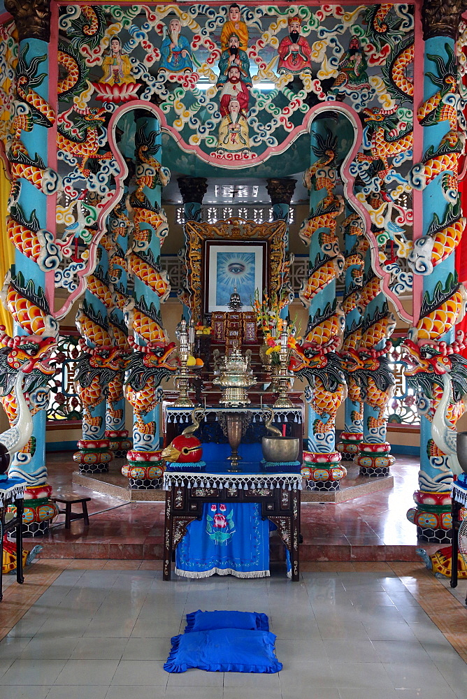 Cao Dai temple, Ho Chi Minh City, Vietnam, Indochina, Southeast Asia, Asia