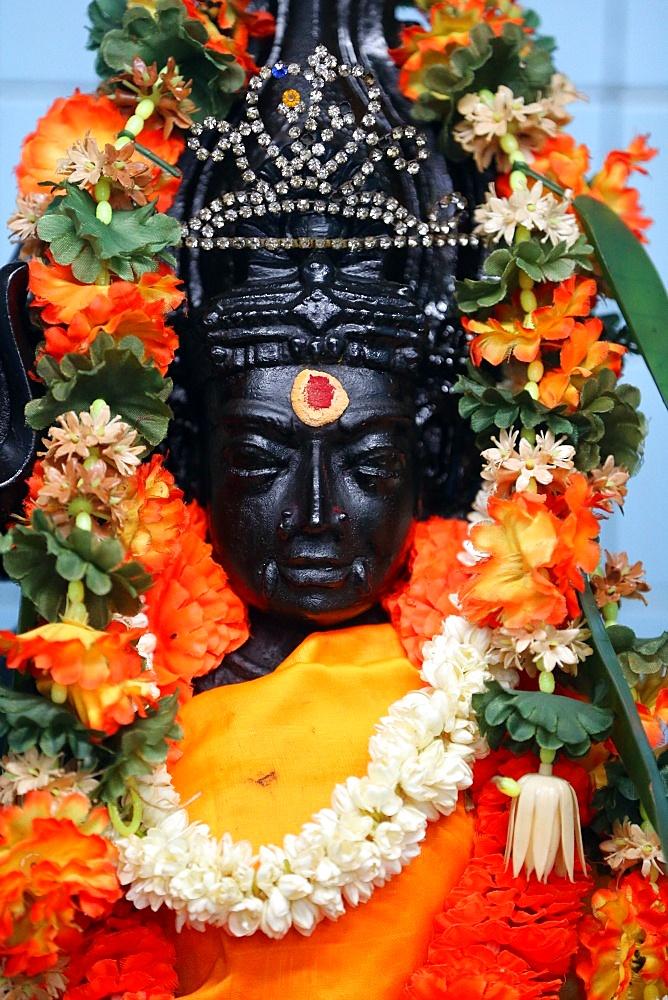 Mariamman Hindu Temple. Madurai Veeran, a Tamil folk deity popular in southern Tamil Nadu.