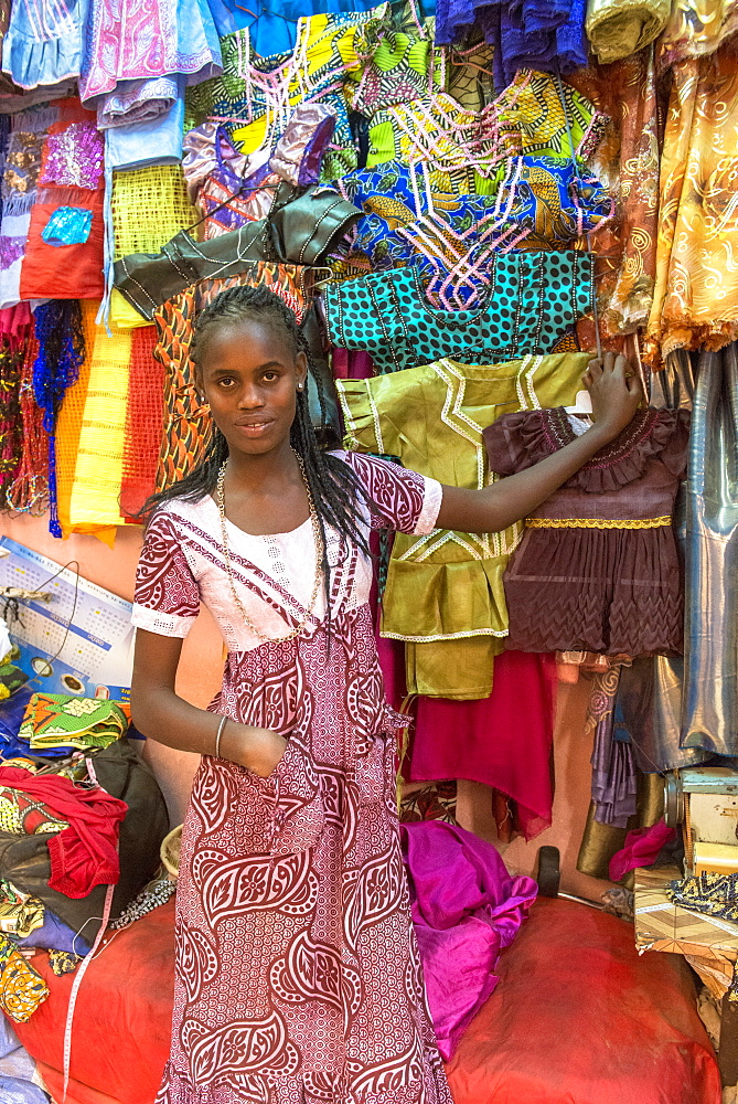 Market in Saint Louis, Senegal, West Africa, Africa