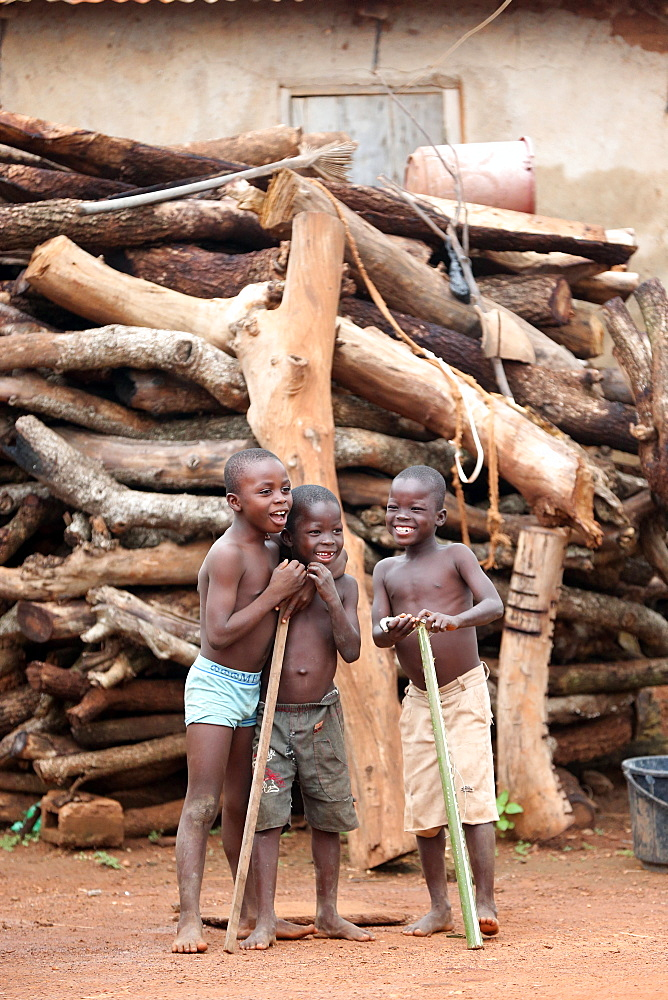African children in a village, Sotouboua, Togo, West Africa, Africa