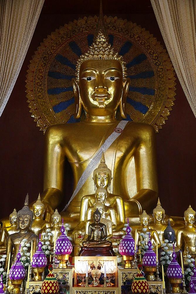 Buddha statues in Wat Chedi Luang, Chiang Mai. Thailand.
