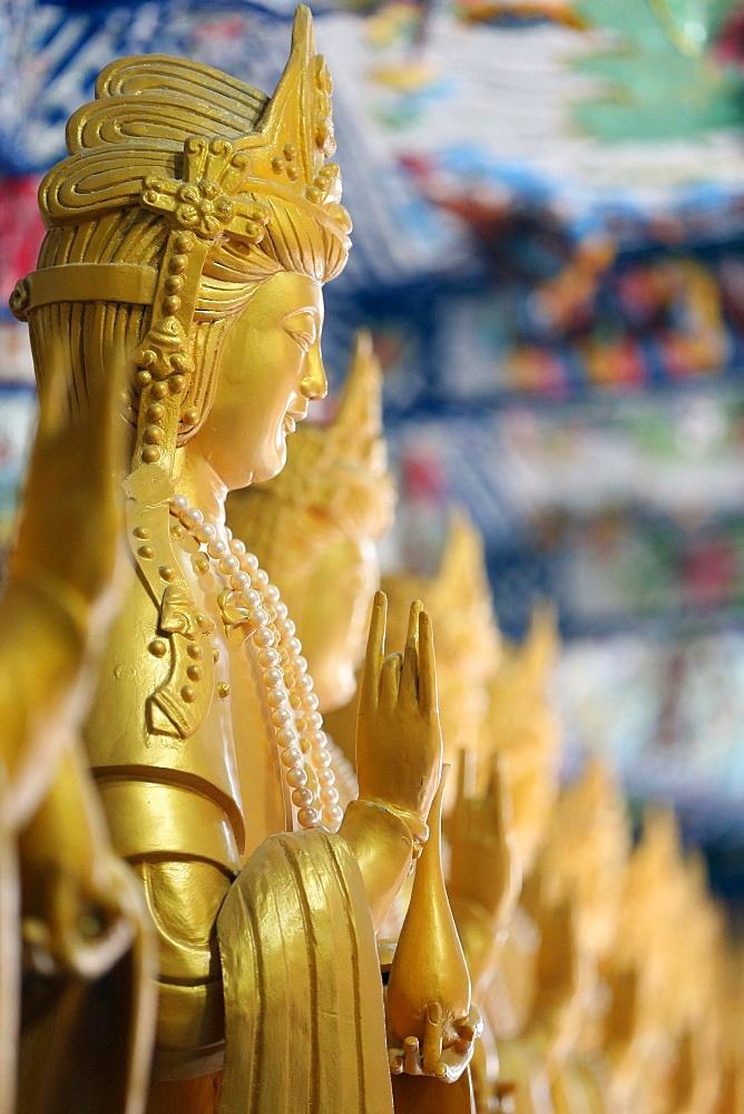 Statue of Quan Am, Bodhisattva of Compassion (Goddess of Mercy), Linh Phuoc Buddhist Pagoda, Dalat, Vietnam, Indochina, Southeast Asia, Asia