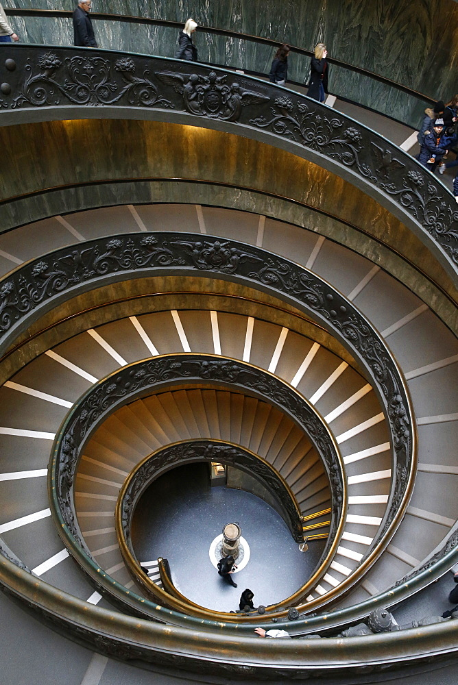 Spiral staircase, Vatican Museum, Rome, Lazio, Italy, Europe