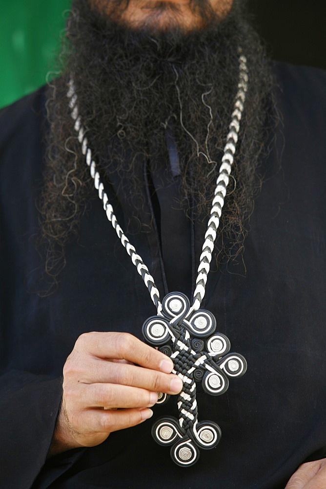 Egyptian Orthodox Coptic priest, Jerusalem, Israel, Middle East
