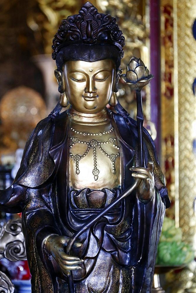 Goddess of Mercy, Avalokitesvara Bodhisattva statue, Chua Ho Quoc Pagoda, Quan Am, Phu Quoc, Vietnam, Indochina, Southeast Asia, Asia - 809-7432