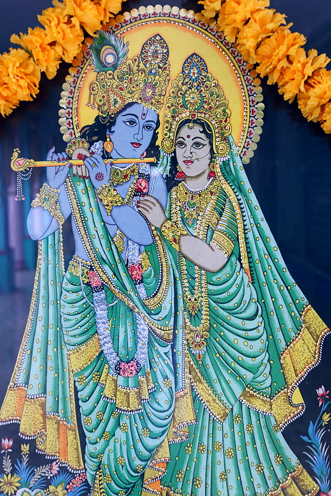 Krishna and Radha, Sri Thenday Yutthapani Temple, Ho Chi Minh City, Vietnam, Indochina, Southeast Asia, Asia