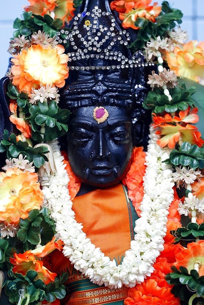 Mariamman Hindu Temple. Madurai Veeran, a Tamil folk deity popular in southern Tamil Nadu. Ho Chi Minh City. Vietnam. - 809-7501