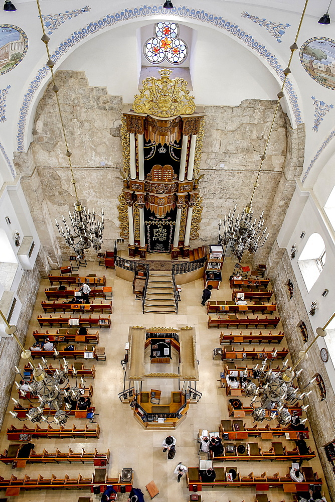 Hurva Synagogue, Jerusalem old city, Israel, Middle East - 809-7657