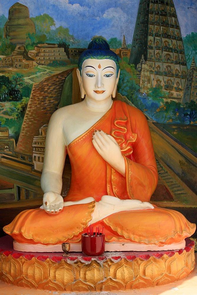 Buddha, Dharmikarama Burmese temple, Penang, Malaysia, Southeast Asia, Asia - 809-867