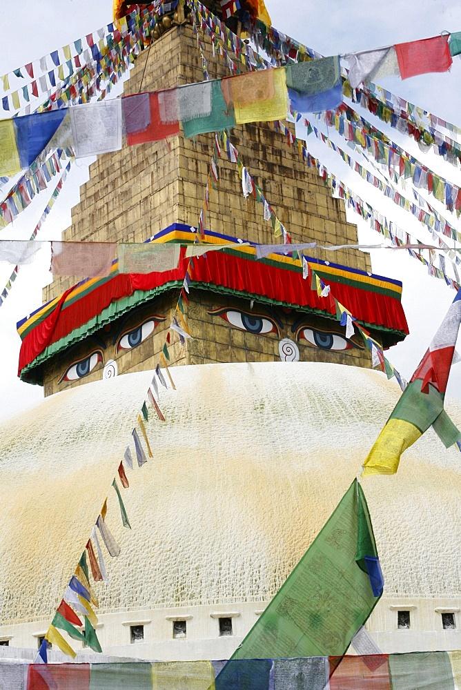 Bodhnath Stupa, UNESCO World Heritage Site, Kathmandu, Nepal, Asia - 809-885